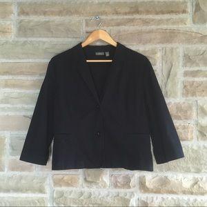 Apt. 9 Black Lightweight Cotton Blazer Jacket XL